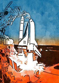 Shuttle Launch, Made with Popsicolor.