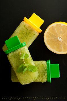 Lemon and Cucumber Ice Pops