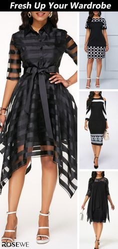 Stand out this spring and summer for all the right reasons with pretty dress. Shop the look today to get more discounts! Queen Fashion, Diva Fashion, Star Fashion, Fashion Outfits, Womens Fashion, Business Casual Outfits, Dressy Outfits, Casual Dresses, Black Dresses Online