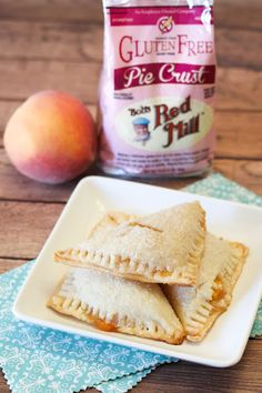 Gluten Free Vegan Peach Hand Pies from the wonderful @sarahbakes of Sarah Bakes Gluten Free Treats using our gluten free pie crust mix. Easy peasy and oh-so-delicious!