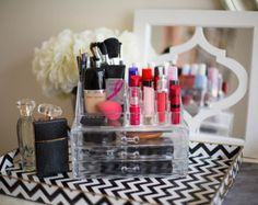 como organizar maquiagem - Pesquisa Google