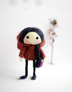 Yo vistiendo en lana y con trenza