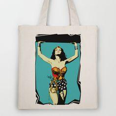 Amazonian Wonder Tote Bag by Vee Ladwa - $18.00