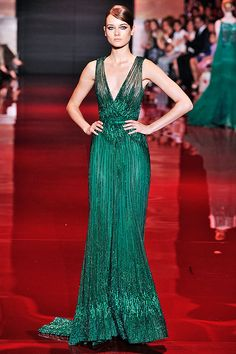 Elie Saab verde esmeralda, coleção haute couture inverno 2014