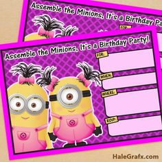 Mini Kit de Minions chicas.