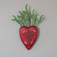 folkart heart by Elizabeth Frank
