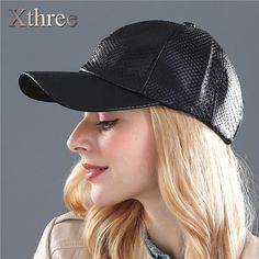 Xthree fashion Baseball Cap women fall faux Leather cap hip hop snapback  Hats For men winter hat for women ffeb30c41252
