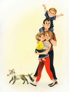 The Art Of Animation — Genevieve Godbout - . Children's Book Illustration, Character Illustration, Mother And Child Painting, Family Drawing, Mother Art, Animation, Cute Drawings, Clipart, Character Art