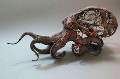 33 Handmade Animal Sculptures - From Scrap Metal Animal Sculptures to Vintage Furniture Animal Art (TOPLIST)