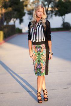 Stripes and Florals:: elleapparelblog.com
