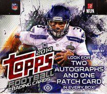 2014 Topps Football Cards Jumbo Packs Box - 10 Jumbo Packs Per Box