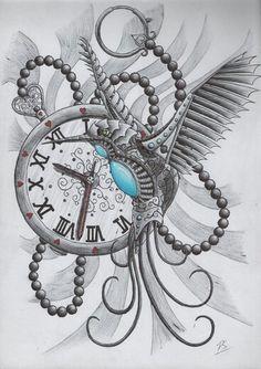 Soft steampunk (TimeBird) - tattoo idea