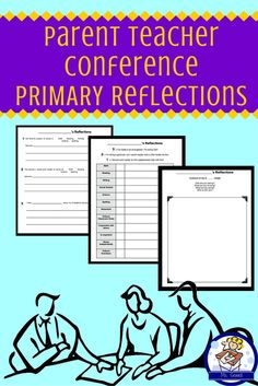 Want to hear more from students during your parent teacher conferences? If you invite your students or just share their reflections, this is a great packet to get them thinking.   Students reflect on their year thus far, thinking about their progress in each subject, their behavior, and friendships. Great way to generate talking points for your conferences and a nice keepsake for parents.   Parent letter is included if you choose to invite students to conferences.