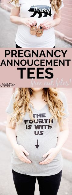 DIY Pregnancy Annoucement Tees | pregnancy announcement t-shirts | pregnancy announcement ideas | diy pregnancy announcement || See Kate Sew #pregnancyannouncement #diytshirt