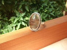 Rutilated Quartz Ring Rutile Quartz Ring Sterling Silver Ring Crystal Inclusions Handmade Ring Birthstone