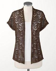 Feather light cardigan - Aztec Chocolate - Coldwater Creek.