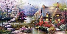 Spring Garden Counted Cross Stitch Kit