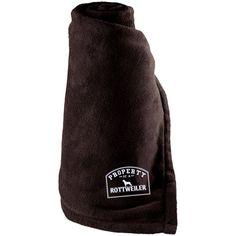 Rottweiler - Property Of A Rottweiler - Large Fleece Blanket