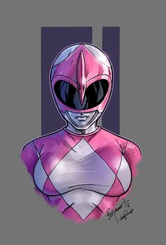 Mighty Morphin Power Rangers pink color
