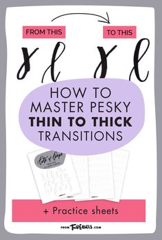 Are you struggling to transition from thick downward stroke to thin curve? Then you need to work on your wrist control. Many people have this problem when they start practicing brush lettering, whether with a brush marker or thin brush pen. It can be even more difficult if you are using a very