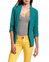 New and Wow!- Open Shawl Collar Blazer