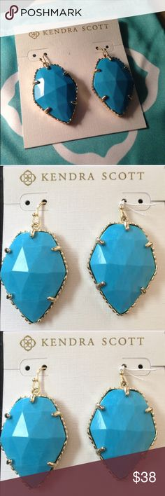 LOWST PRICE ON SITE Kendra Scott Corley's. BRAND NEW w/o tag. 100% Authentic Kendra Scott Turquoise Corley's. LOWEST PRICE ON SITE!!! NO TRADES. Price is firm. NO OFFERS. Your getting te best deal on the site and they are BRAND NEW! Kendra Scott Jewelry Earrings