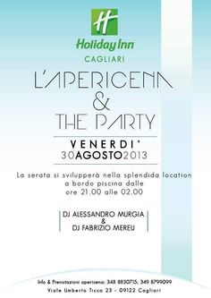 APERIDINNER AND POOL PARTY – HOLIDAY INN- CAGLIARI – FRIDAY AUGUST 30