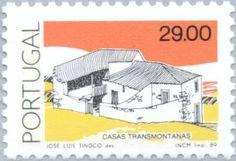 Znaczek: Casas Transmontanas (Portugalia) (Traditional Architecture) Mi:PT 1782,Sn:PT 1640,Yt:PT 1760,Afi:PT 1718