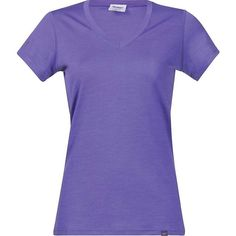 Bergans Women's Bloom Wool Lady Tee ($69) ❤ liked on Polyvore featuring tops, t-shirts, shirts, funky purple, purple top, purple t shirt, woolen shirts, wool shirt and bergans