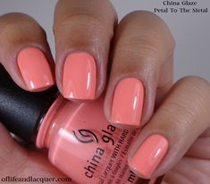 china glaze petal to the metal swatch - Google Search