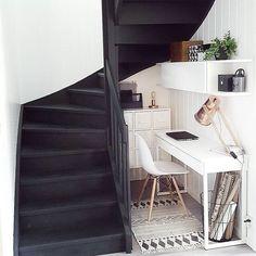Stair nook workspace idea › via @workspacegoals on Instagram
