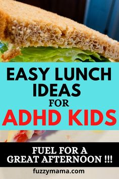 These easy healthy, lunch ideas will fuel your adhd kids for a successful afternoon at school. ADHD Kids need to eat a super healthy lunch to be at their best and it can be hard to know what to pack. These ideas by a mom of two adhd boys are so helpful! Lunch Box Recipes, Whole Food Recipes, Lunch Ideas, Fruit And Veg, Fruits And Veggies, Peanut Butter Sandwich, Healthy Bars, Healthy School Lunches, Processed Sugar
