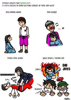 How Ji Hyo escapes on Running Man