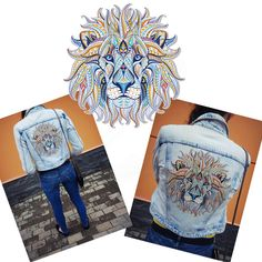 3D DIY Lion King Print Iron On Clothes Patches Heat Transfer Stickers Applique r