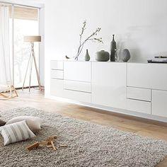 Nett sideboard 2 m lang - Quality Furniture, Modern Furniture, Furniture Design, Living Room Lighting, Living Room Decor, Nordic Interior Design, Room Lights, Entryway Decor, Living Room Designs