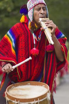 Peruvian musician. Repinned by Elizabeth VanBuskirk. Music & dance are important  Inca activities. I recommend this site which has much reference for teaching purpuses: http://pinterest.com/stuffedbackpack/peru/