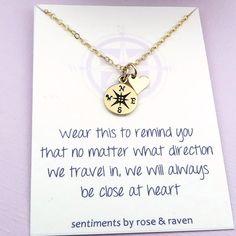 Beste Freunde-Kompass-Halskette genießen Sie von SentimentsByRR