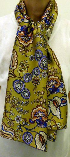 Nouveau   CB FOULARDS lance enfin sa gamme de foulards écharpes en soie  haut de gamme et luxe. Pour la première, nous mettons en avant ce foulard  écharpe en ... d14f5446695