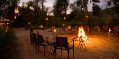 After dinner drinks round the campfire at Sher Bagh, Ranthambore National Park    #MyEscapeCompetition