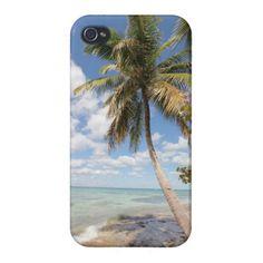 Isla Saona - Palme am Strand #iPhone4 Etui #zazzle #Fotogeschenk