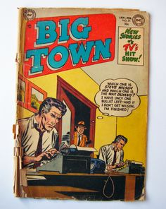 """1954 """"Big Town"""" DC Comic Book #25 """"New Stories Of TV's Hit Show!"""" Ten Cent Issue by parkledge on Etsy"""