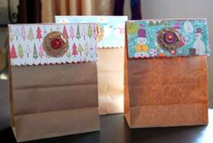 Sacchetti per il pane Avanzi di carta regalo, forbici e colla per rendere originalissimi dei semplici sacchetti per il pane!