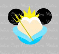 King Triton Mouse Head SVG, Studio, EPS, and JPEG Digital Downloads – Magikal Cuts
