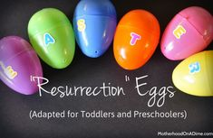 resurrection eggs preschool toddler