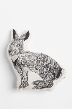 The Rise and Fall Bunny Pillow