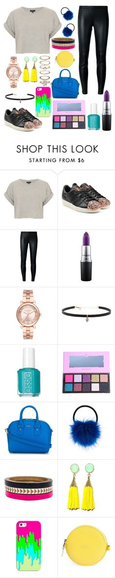 """""""Untitled #284"""" by isobelle206 ❤ liked on Polyvore featuring Topshop, adidas Originals, MICHAEL Michael Kors, MAC Cosmetics, Michael Kors, Carbon & Hyde, Essie, Furla, Accessorize and Voz Collective"""