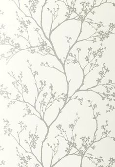 FSchumacher Wallpaper 5003340 Twiggy Silver