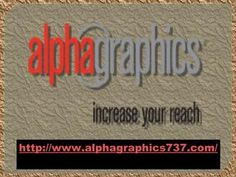 We can prints wide variety of things like Banner Printing Services, Bulk mailing services, Digital Printing, Calendars Printing, Car Wraps and more. We would like to hear from you, Email your feedback and comments to rlamoy@alphagraphics.com