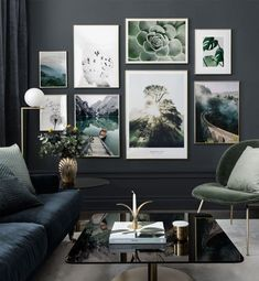 Picture wall with elegant motifs inspired by nature - Posterstor . - Wandgestaltung - Picture wall with elegant motifs inspired by nature – Posterstore. Picture Wall Living Room, Living Room Decor, Bedroom Decor, Living Room Pictures, Wall Art Pictures, Wall Photos, Inspiration Wand, Home Decor Accessories, Cheap Home Decor