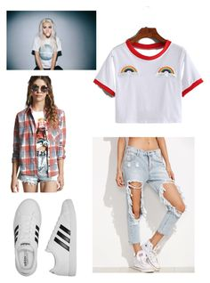 """Lipstick- Skylar outfit 1"" by justabbi on Polyvore featuring Forever 21 and adidas"